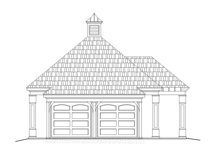 Garage Plan with Storage, 006G-0062