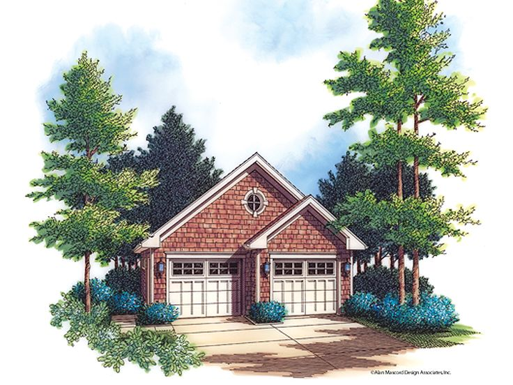 2 Car Garage Plan, 034G-0001