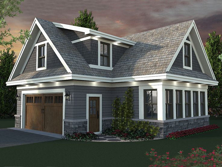 Carriage house plans carriage house plan with 2 car for Oversized garage plans