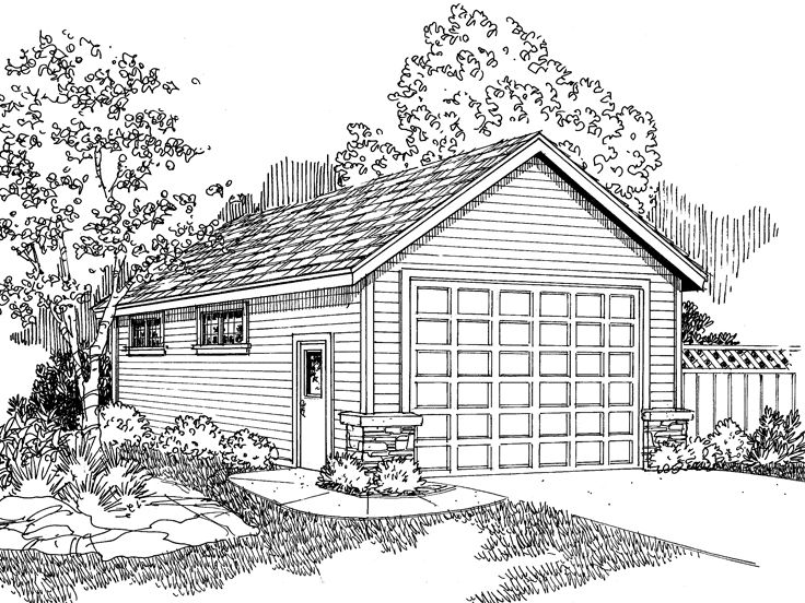 RV Garage Plan, 051G-0029