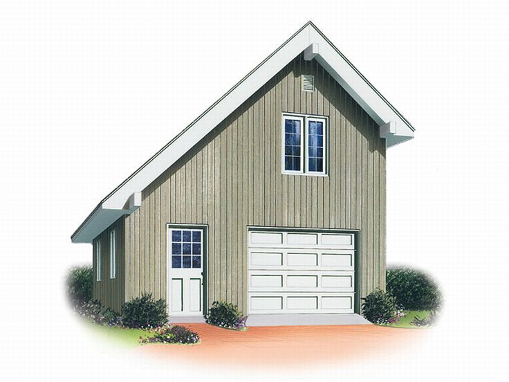 Garage loft plans 1 car garage loft plan 028g 0001 at for Workshop plans with loft
