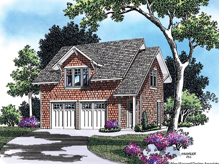Garage Apartment Plan, 034G-0006
