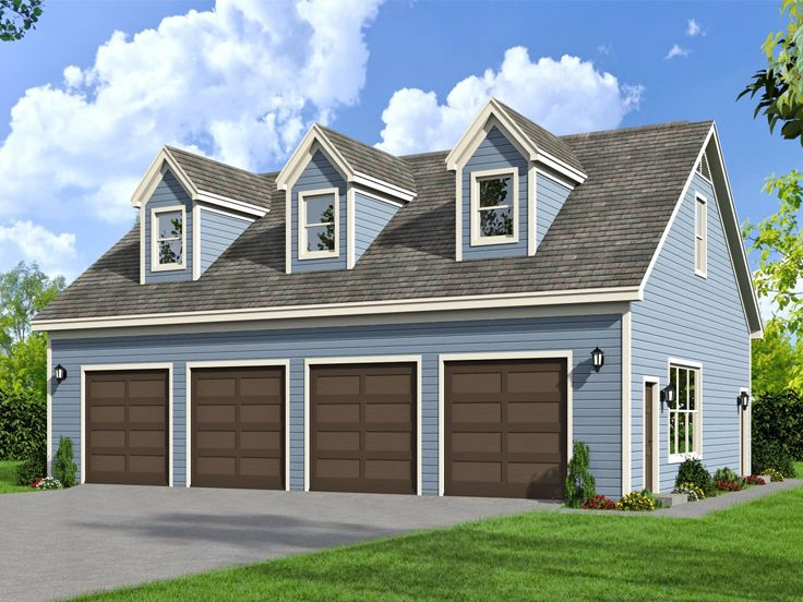 Plan 062g 0071 garage plans and garage blue prints from for 4 car garage house plans