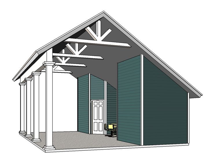 Plan 006g 0165 garage plans and garage blue prints from for Rv shed ideas