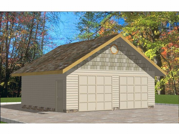 Detached 2-Car Garage, 012G-0019