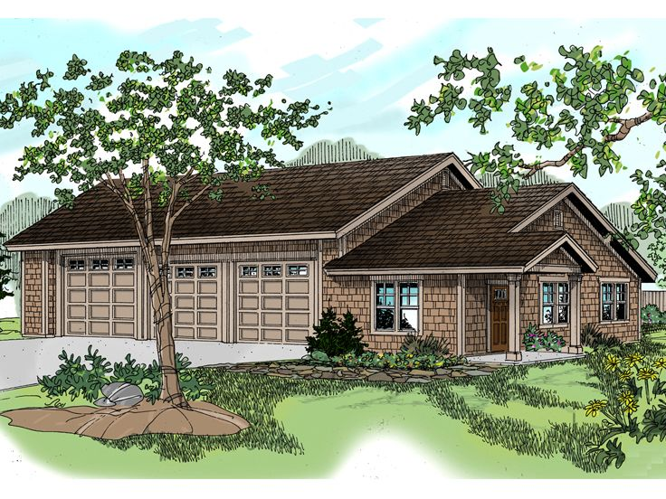 Three car garage plans 3 car garage plan with hobby room for 3 car garage plans