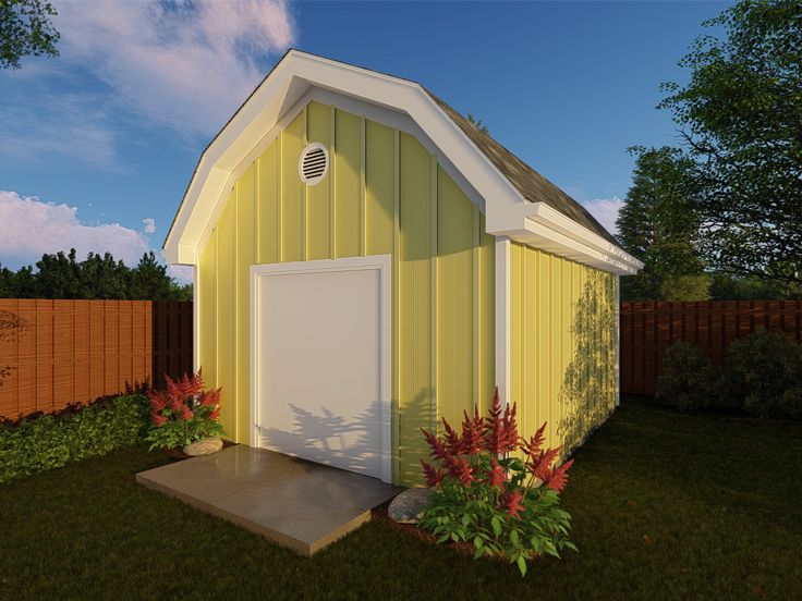 Shed Plans   Storage Shed Plan with Gambrel Roof Design ...