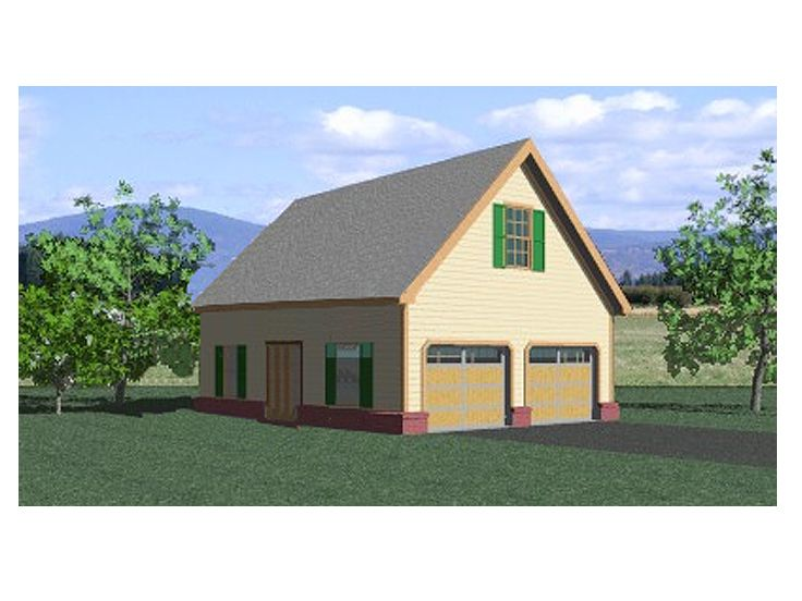 Garage loft plans country style garage loft plan 006g for Country garage plans