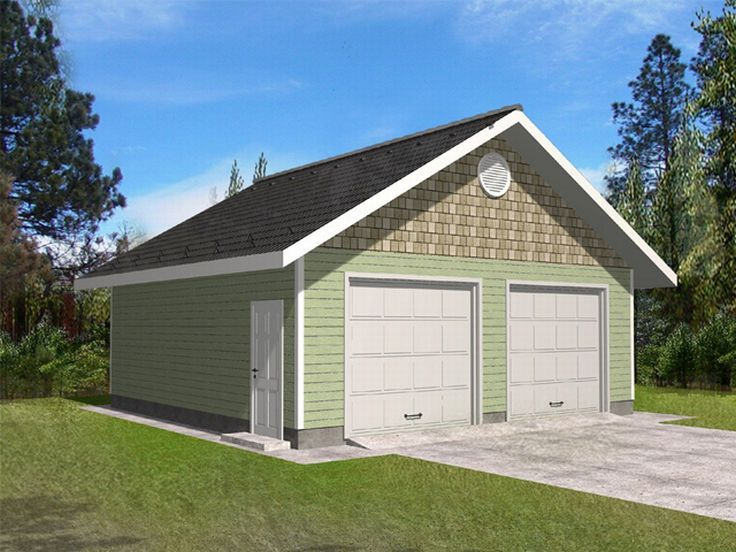 Two Car Garage Plan, 012G-0029