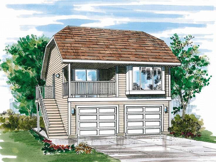 Carriage House Plans Carriage House Plan with 2 Car Garage