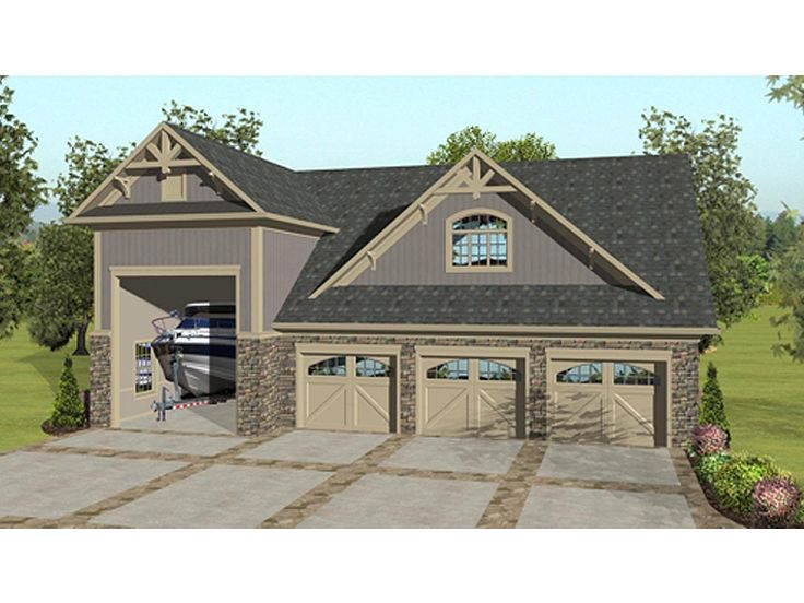 Carriage House Plans | Carriage House Plan with 3-Car Garage and ...