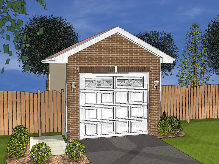 1-Car Garage Plan, 050G-0013