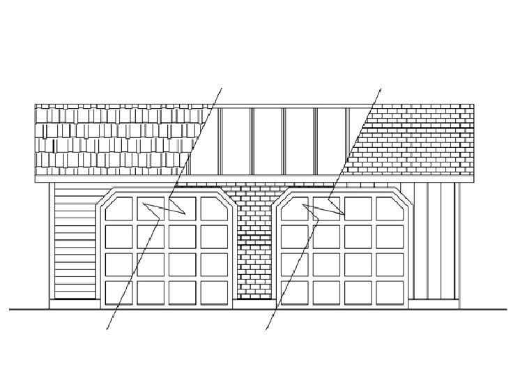 Garage plans with boat storage traditional 2 car garage for Garage plans with boat storage