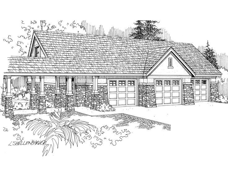 Garage Loft Plans 3 Car Garage Loft Plan Design 051g
