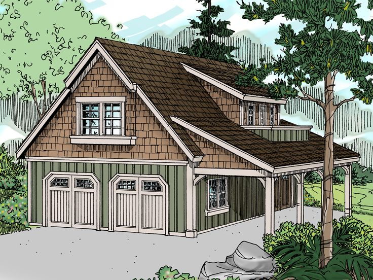 Carriage House Plan, 051G-0020