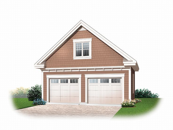 2 car garage plans detached 2 car garage loft plan for Garage with attic