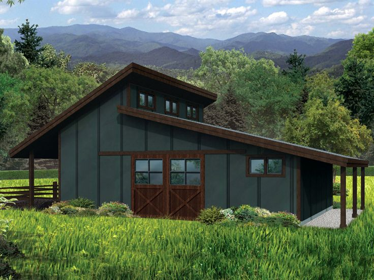 Horse Barn Plan | Modern Horse Barn Plan # 051B-0004 at ...