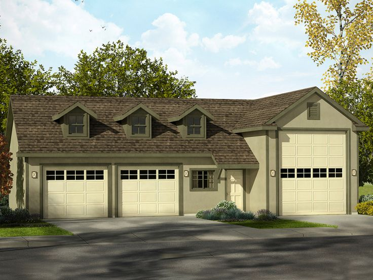 Rv garage plans rv garage plan with 2 car garage and for Large garage plans