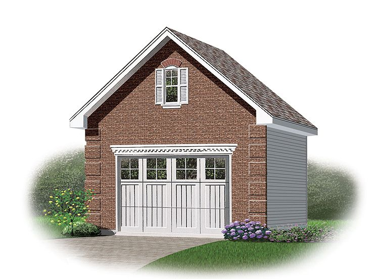 One Car Garage Plans Detached 1 Car Garage Loft Plan