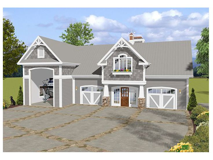 Carriage house plans carriage house plan with rv bay for Carriage garage plans