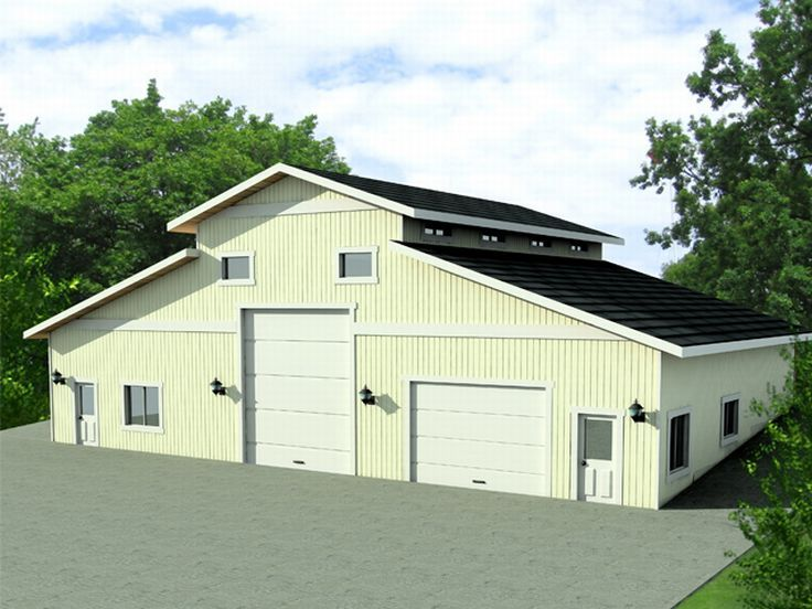 Outbuilding plans outbuilding plan with equipment Small house plans with 3 car garage