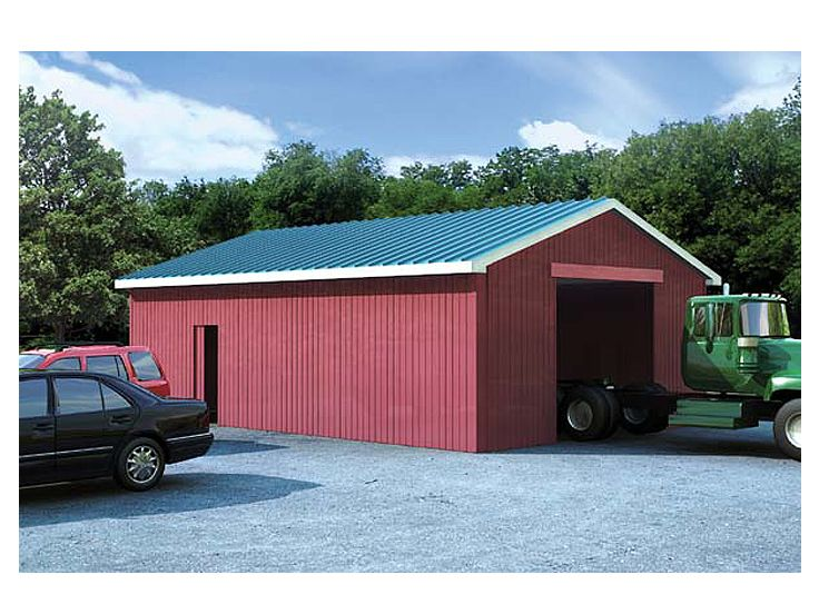 amazing shop barn plans #9: Plan 047B-0001