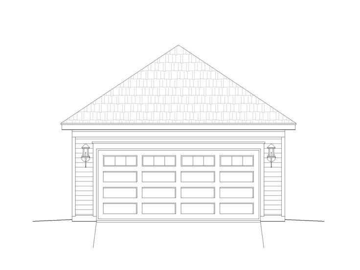 Two-Car Garage Plan, 062G-0009
