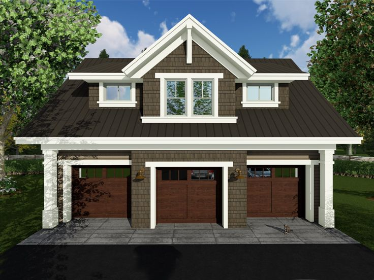 Carriage house plans craftsman style carriage house plan for Carriage house plans with apartment