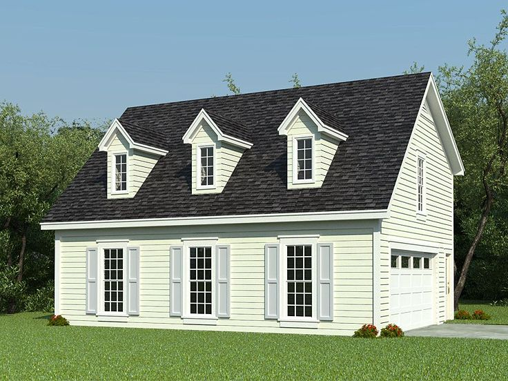 Cape Cod House With Garage : Carriage house plans cape cod style plan