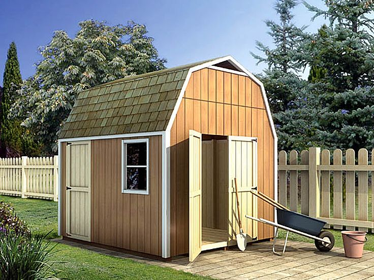 Storage Shed Plan, 032G-0005