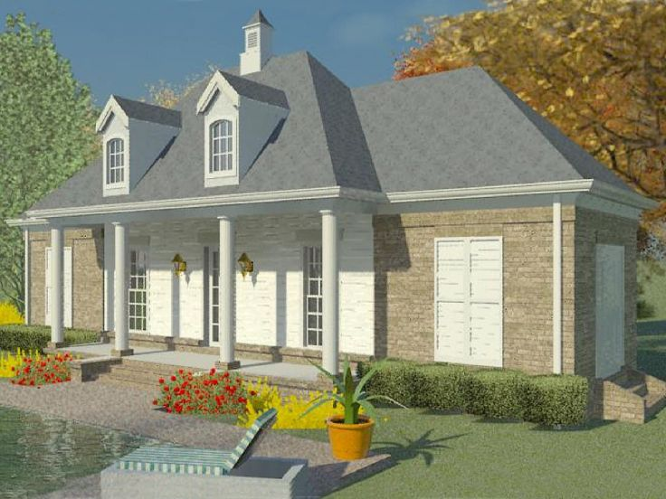 1 car garage plans one car garage plan with flex space for Pool house plans with garage