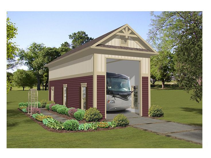 RV Garage Plan, 007G-0011