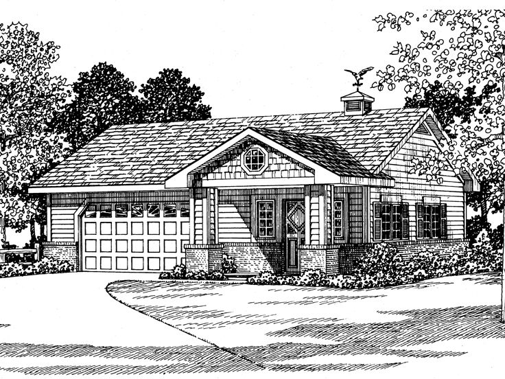 2-Car Garage Plan, 057G-0024