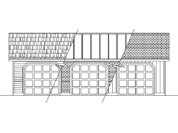 Three Car Garage Plan, 013G-0009