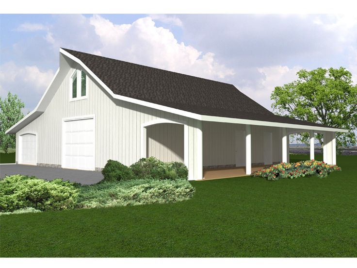 Outbuilding plans outbuilding or garage plan with shop Barn plans and outbuildings
