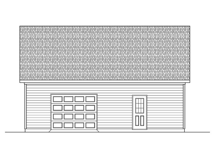 Garage Workshop Plan, 019G-0001