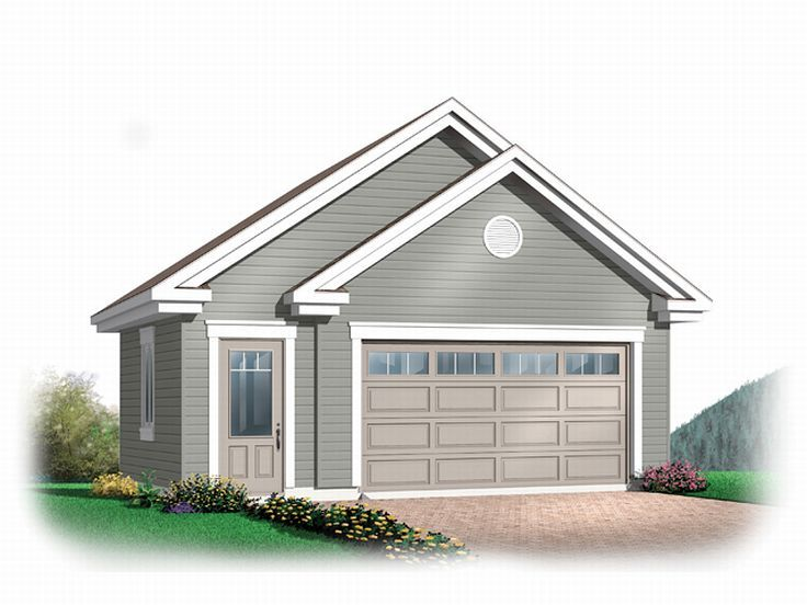 Garage Plan with Storage, 028G-0021