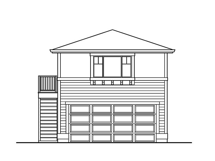 Garage apartment plans 2 car garage with studio for Garage studio apartment plans