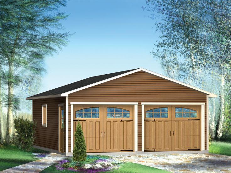 Two-Car Garage Plan, 072G-0005