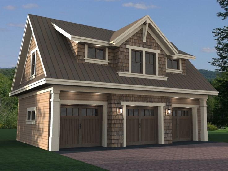 Carriage house plans craftsman style carriage house plan for Oversized garage plans