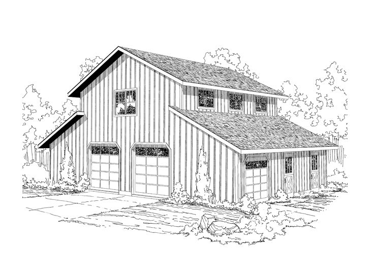 Barn Plan Outbuilding Plan Or Barn Plan With Storage And