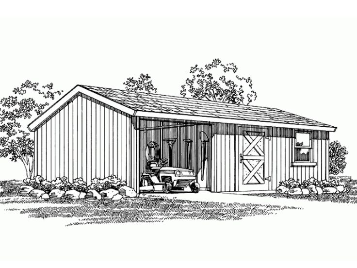 Utility Shed Plan, 033S-0005