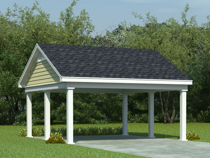 attached 2 car carport plans
