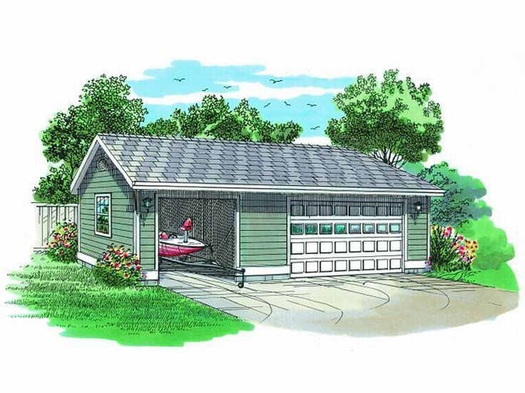 Garage plans with boat storage detached boat storage for Rv storage plans