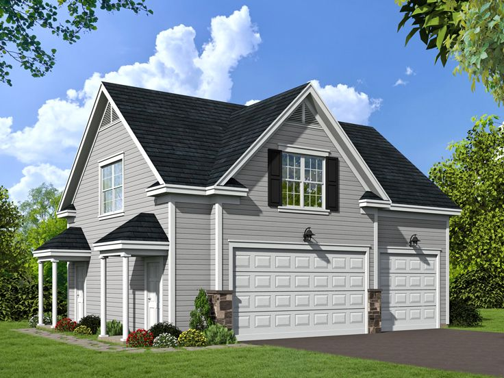 Carriage house plan carriage house plan with 3 car for Carriage house plans with loft