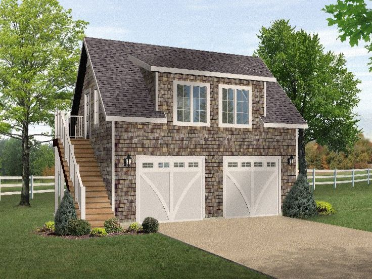 Apartment plans carriage house above garage for Above garage apartment floor plans