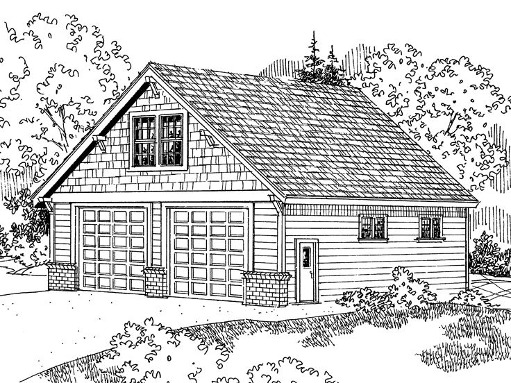 Tandem garage plans tandem garage plan with loft design for Tandem garage house plans