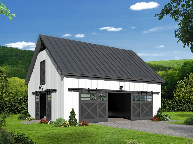 Barn Plan with Loft, 062B-0011