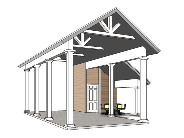 RV Carport Plan, 006G-0162