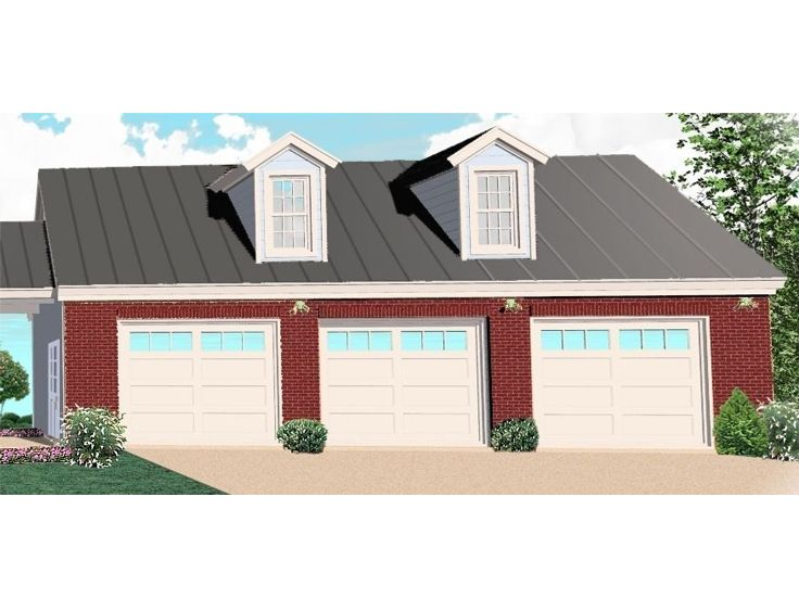 Three Car Garage Plan, 006G-0070